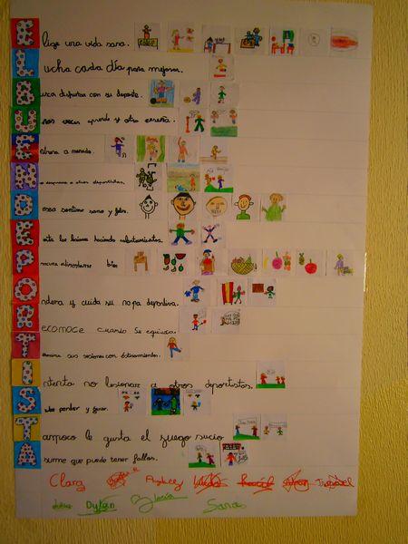 En otras aulas hemos realizado estos murales: